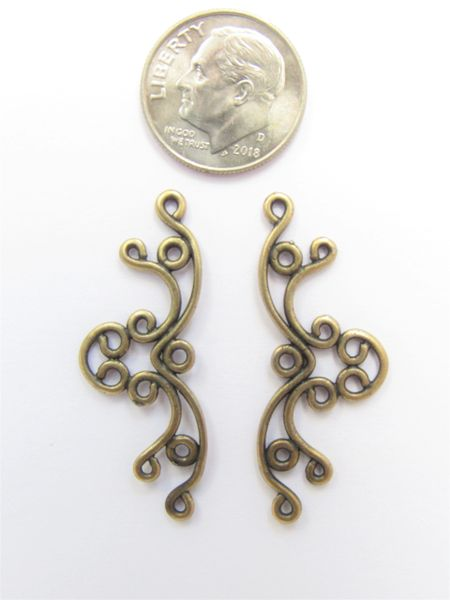 Filligre Connector FINDINGS 17x20mm Antique BRASS JBB Findings quality findings for making jewelry