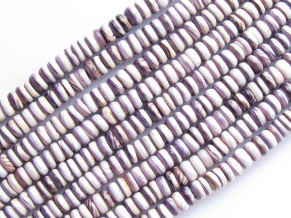 5mm Wampum BEADS Natural Purple Shell USA Genuine Quohag Mercendaria rare for making jewelry