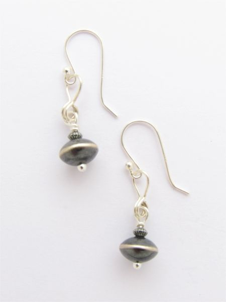 Handmade Sterling Silver EARRINGS with earwires minimalist style jewelry