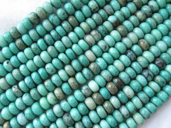 Green Chrysoprase BEADS 8mm Rondelles Faceted gemstone bead supply for making jewelry