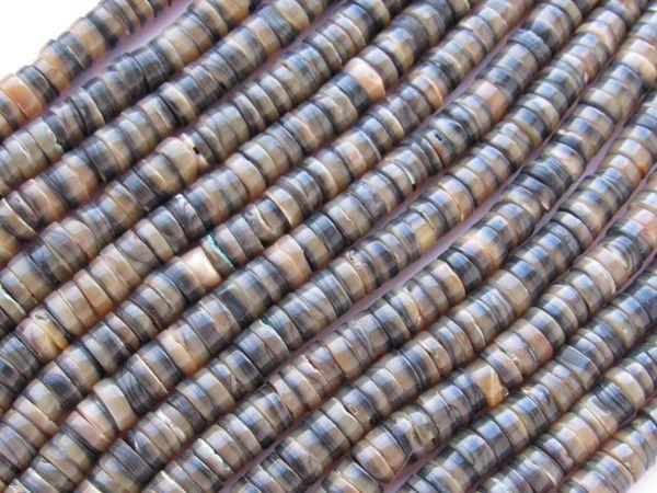 Abalone BEADS 6mm Sea Shell HEISHE Bead Strand or making jewelry