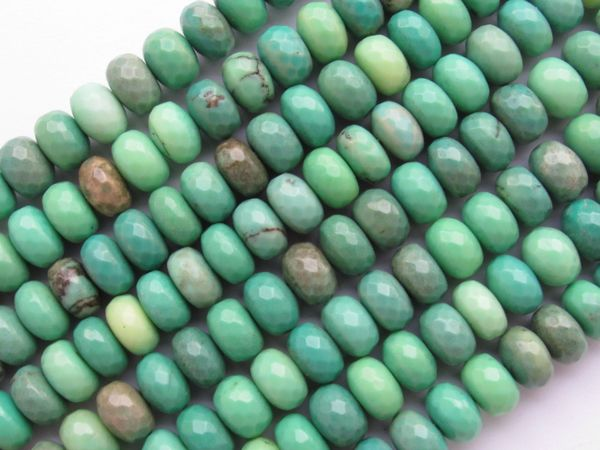 Opaque Chrysoprase BEADS 10mm Rondelle Faceted Natural Green bead supply for making jewelry