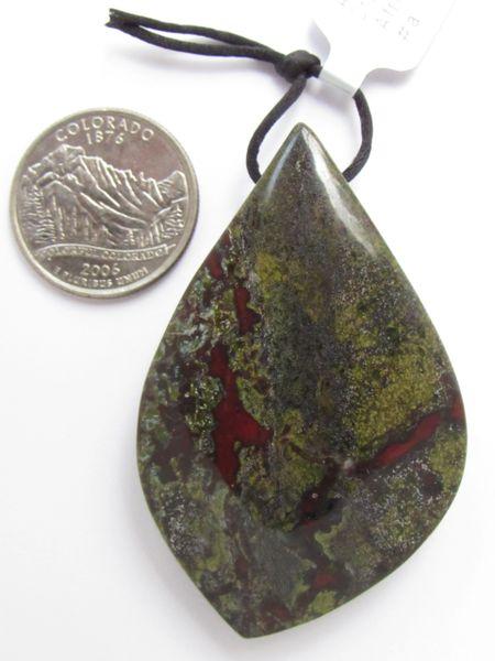 Jewelry making Supplies Jasper Gemstone PENDANT Dragon Blood Large Handcut A Grade 62x39mm Natural Large Hole