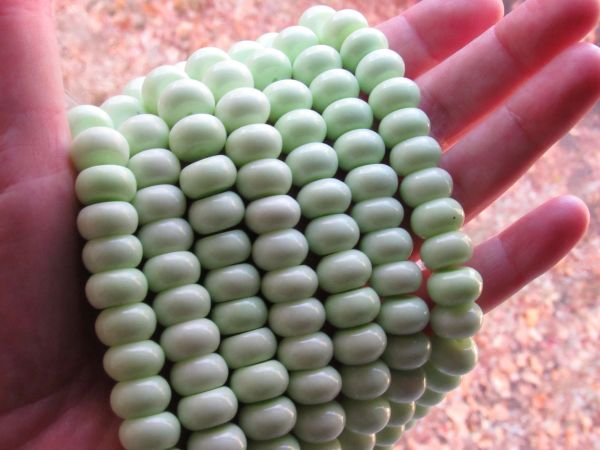 Lemon Chrysoprase BEADS 12mm Rondelles natural opaque gemstone bead supply for making jewelry