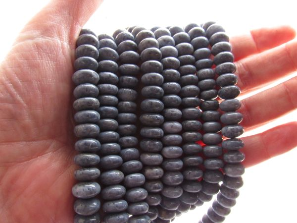 Bead Supply Genuine Blue CORAL Beads 10mm rondelles natural blue SPONGE CORAL for making jewelry
