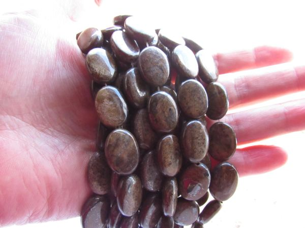 Bronzite BEADS 18x13mm Oval Multicolor Smooth polished gemstone bead supply for making jewelry