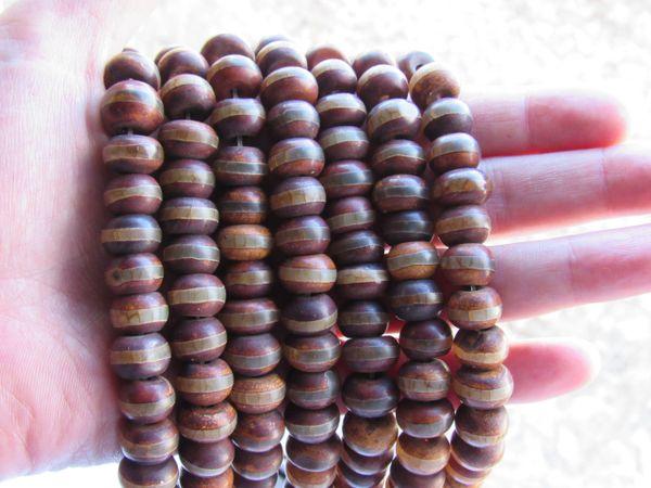 DZI Beads Genuine Agate 12x8mm Rondelles Strand banded Gemstone bead Tibet for making jewelry