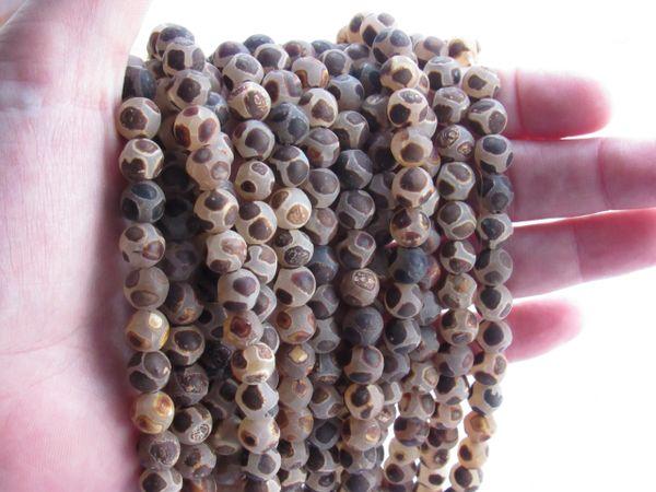 AGATE BEADS 8mm Round TIBET DZI Eye bead supply for making jewelry