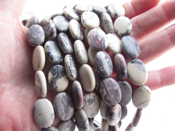 Porcelain JASPER BEADS 18x13mm Oval multicolor Smooth polished supplies for making jewelry
