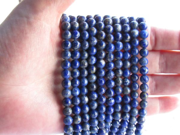 bead supplies Genuine LAPIS Lazuli BEADS 6.5mm Round natural blue for making jewelry