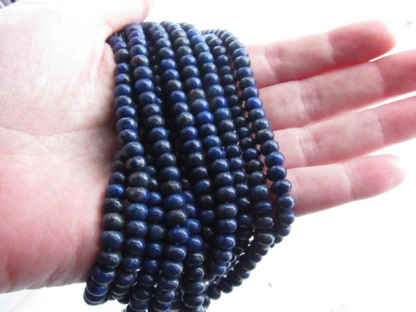 Natural LAPIS Lazuli BEADS 6mm Rondelle bead supply for making jewelry
