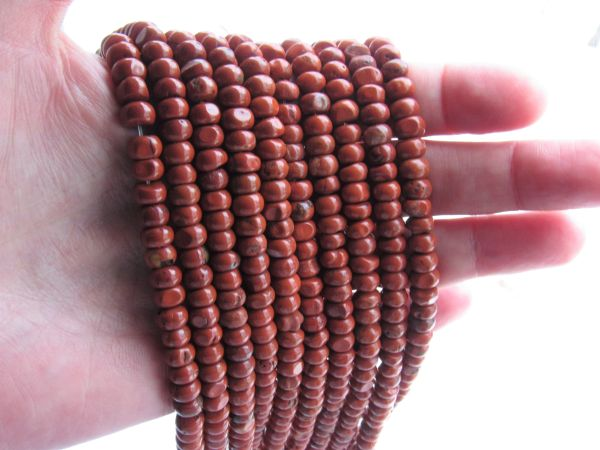Red JASPER BEADS 7x4mm rondelle Natural Gemstone bead supply for making jewelry