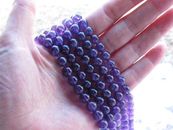 A Grade Purple Amethyst BEADS 8mm Round bead supply for making jewelry