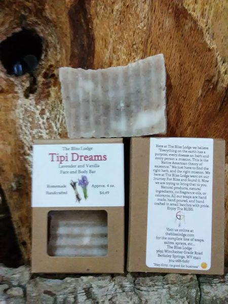 Tipi Dreams Lavender & Vanilla Bath Bar