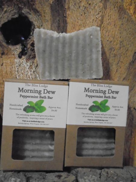 Morning Dew Peppermint Bath Bar