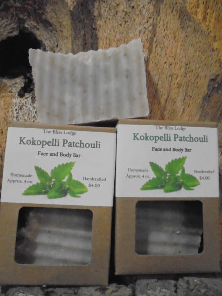 Kokopelli Patchouli Face and Bath Bar