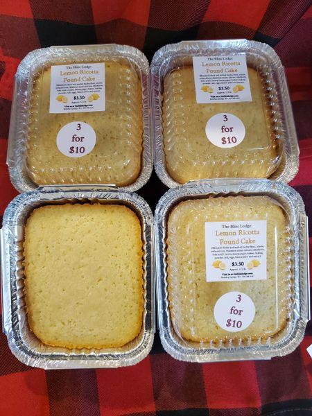 Lemon Ricotta Pound Cake Local - pick up only