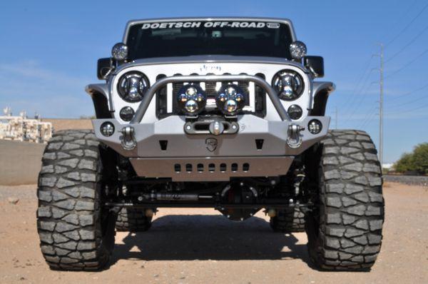 Jeep Wrangler Off Road >> Jcr Offroad Crusader Mid Width Front Winch Bumper 2007 2018 Jeep Jk
