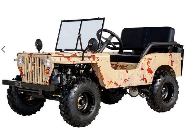 Urban Krawler Mini Willys Jeep Go Kart 125cc 37mph Disc ...