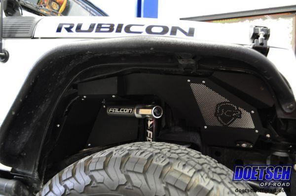 Custom Jeeps For Sale >> JCR Offroad Falcon Shocks Compatible Front Inner Fender Liner Kit 07-18 Jeep Wrangler JK and JKU ...