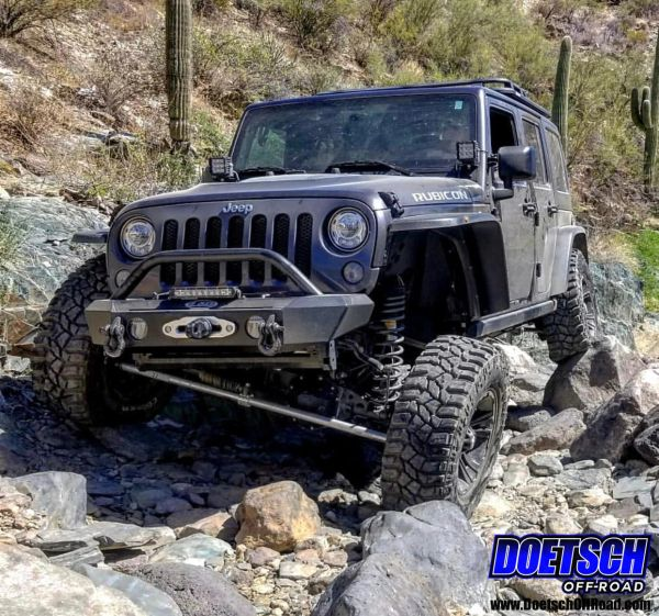 Off Road Jeep >> Doetsch Off Road 07 18 Jeep Jk Aluminum Tie Rod And Drag Link Steering Flip Kit With 1 Ton Offset Ends