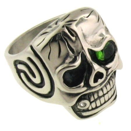 Skull With Green Eye