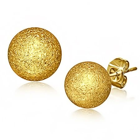 Gold Plated Sandblasted Studs 5MM
