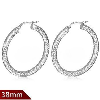 Herringbone Pattern Hoops
