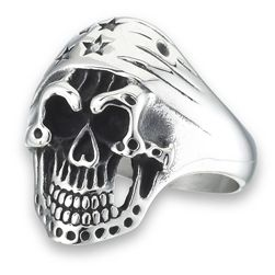 Stars and Stripes Skull