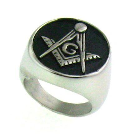 Round Masonic Ring