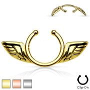 Angel Wing Clip On Nipple Ring