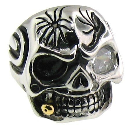 Large Glass Eyed Skull with Bullet