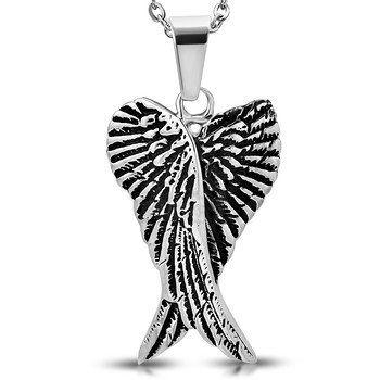 Crossed Angel Wings