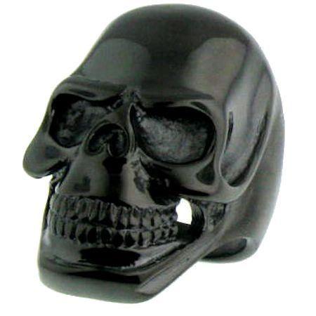 Black Grinning Skull