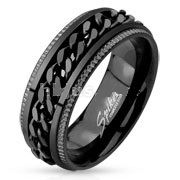 Black Chain Spinning Band