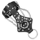 Gothic Skull Bondage Bracelet