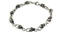 Steel Skull Bracelet