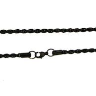 7MM Black Rope Chain