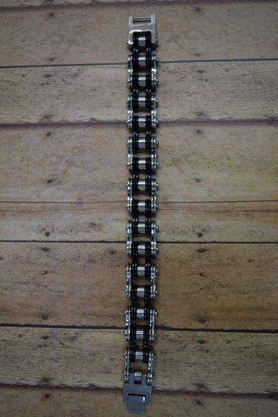 16MM Black/Stainless Bike Chain