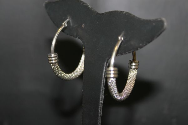 Mesh Fashion Hoops