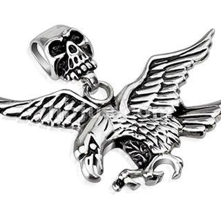 Skull Clasp Eagle Pendant