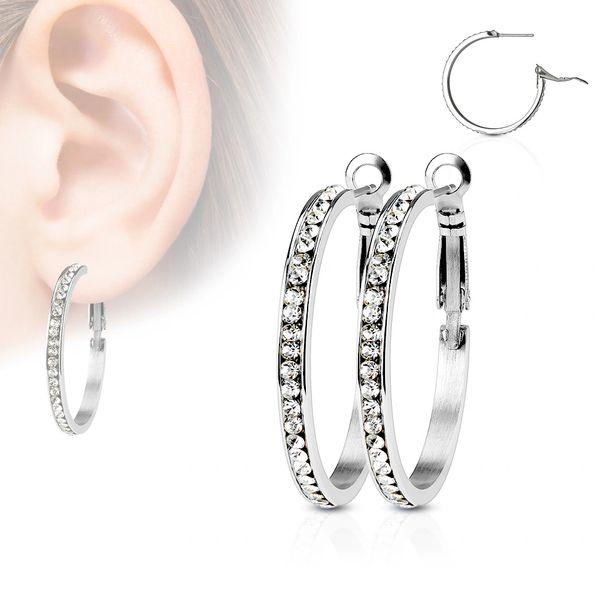 Eternity Hoop Earrings