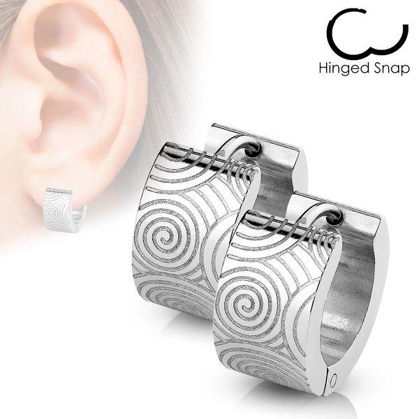 Grooved Spiral Huggie