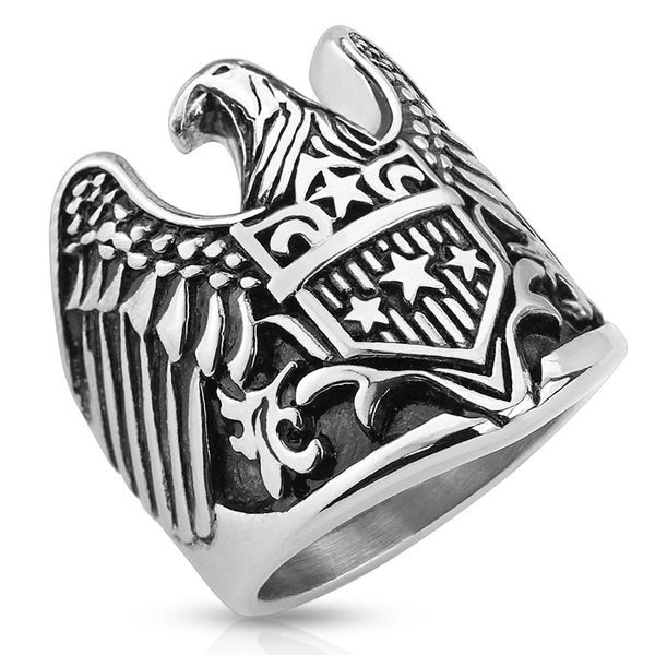Patriotic Eagle Ring
