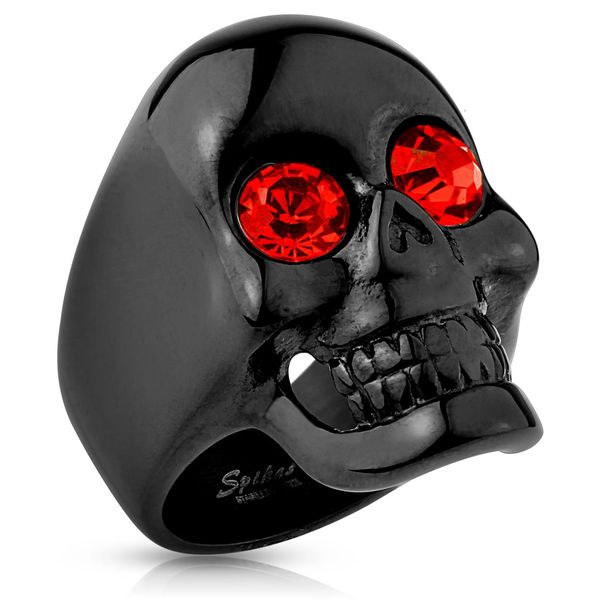 Black Glossy Skull w/ Red Eyes