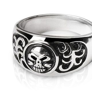 Band with Skull in Circle