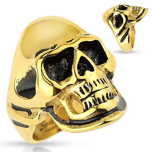 Gold and Black Skull