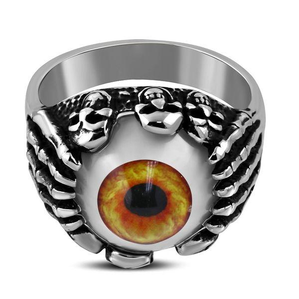 Tri Skull Orange Eye