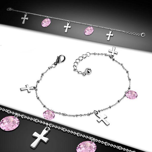 Cross w/ Pink CZ
