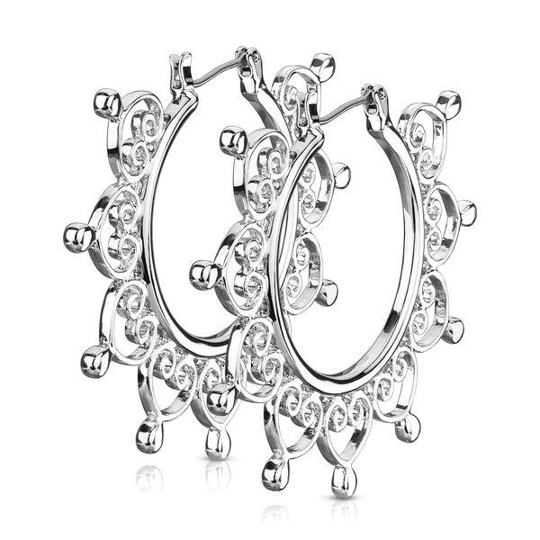 Heart Filigree Earrings